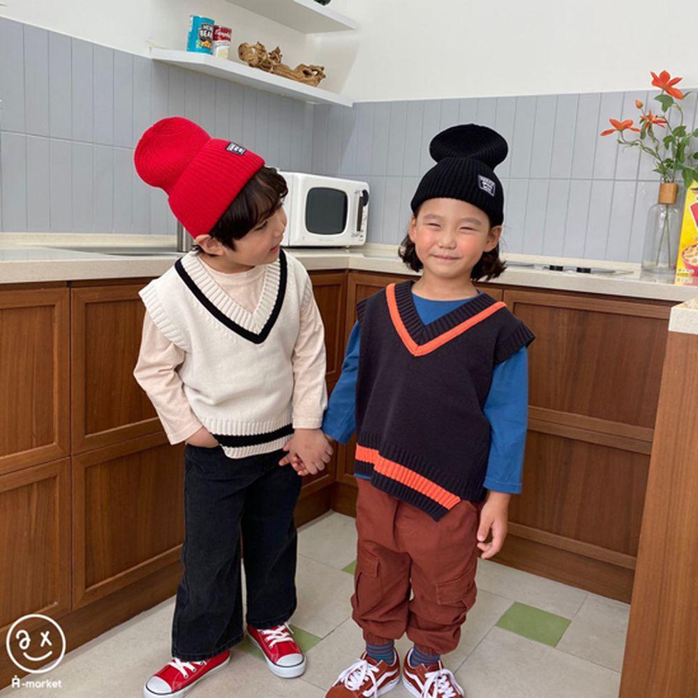 A-MARKET - Korean Children Fashion - #Kfashion4kids - Diagonal Line Vest - 7