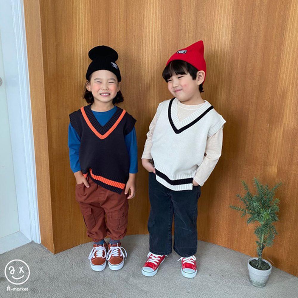 A-MARKET - Korean Children Fashion - #Kfashion4kids - Diagonal Line Vest - 8