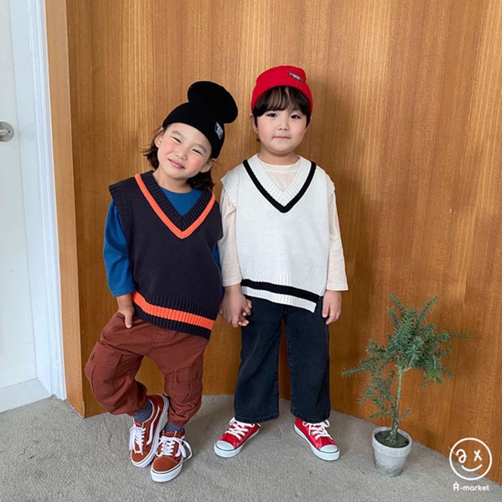 A-MARKET - Korean Children Fashion - #Kfashion4kids - Diagonal Line Vest - 9