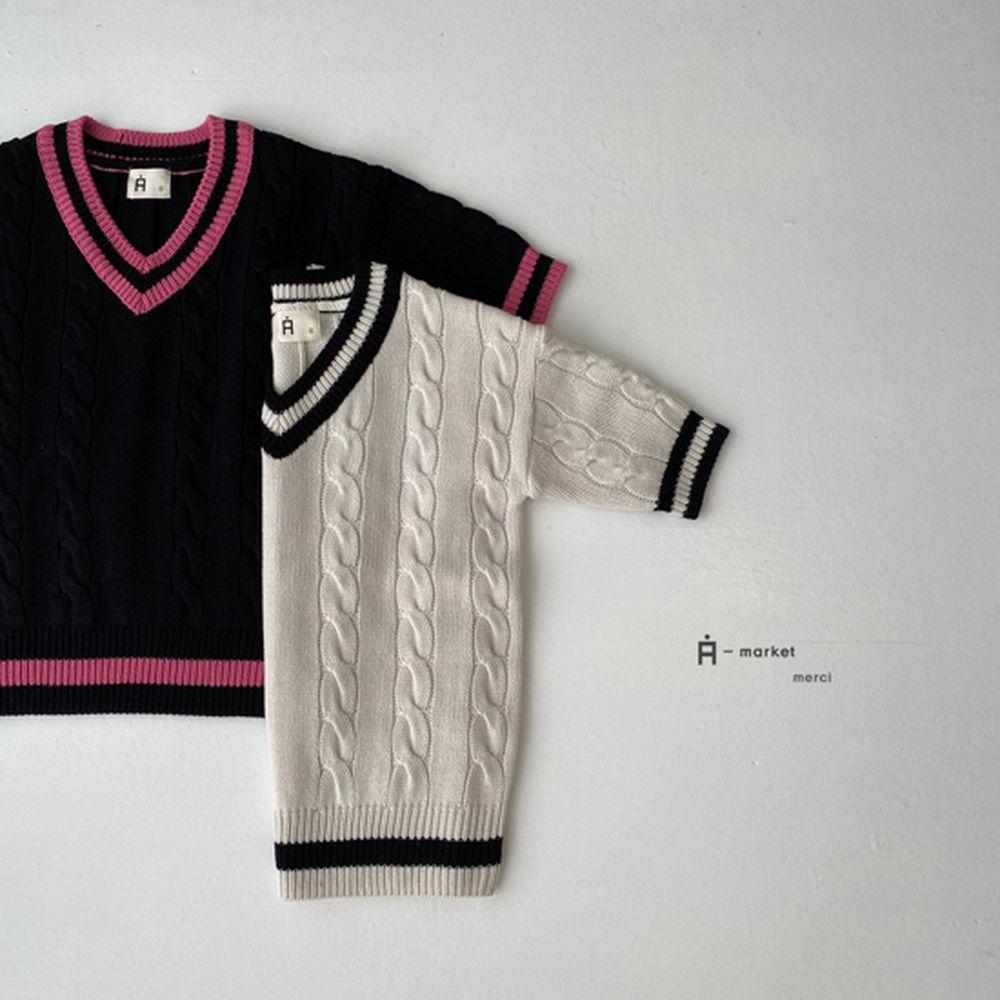 A-MARKET - Korean Children Fashion - #Kfashion4kids - School Knit One-piece