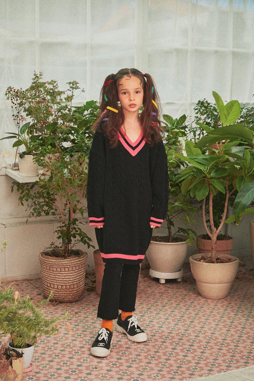A-MARKET - Korean Children Fashion - #Kfashion4kids - School Knit One-piece - 12