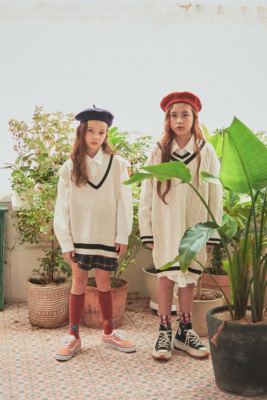 A-MARKET - Korean Children Fashion - #Kfashion4kids - School Knit One-piece - 3