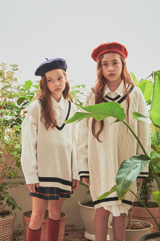 A-MARKET - Korean Children Fashion - #Kfashion4kids - School Knit One-piece - 4