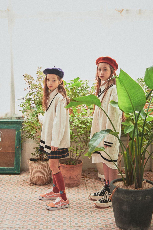 A-MARKET - Korean Children Fashion - #Kfashion4kids - School Knit One-piece - 5
