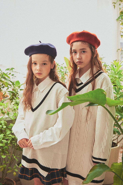 A-MARKET - Korean Children Fashion - #Kfashion4kids - School Knit One-piece - 6