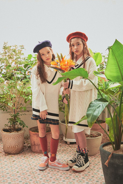 A-MARKET - Korean Children Fashion - #Kfashion4kids - School Knit One-piece - 7