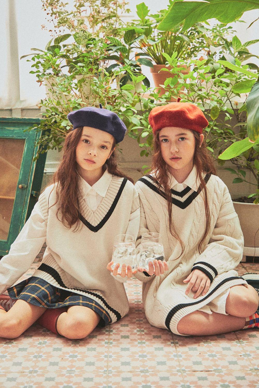 A-MARKET - Korean Children Fashion - #Kfashion4kids - School Knit One-piece - 9