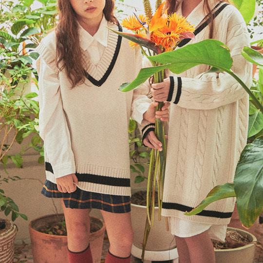 A-MARKET - BRAND - Korean Children Fashion - #Kfashion4kids - School Knit One-piece