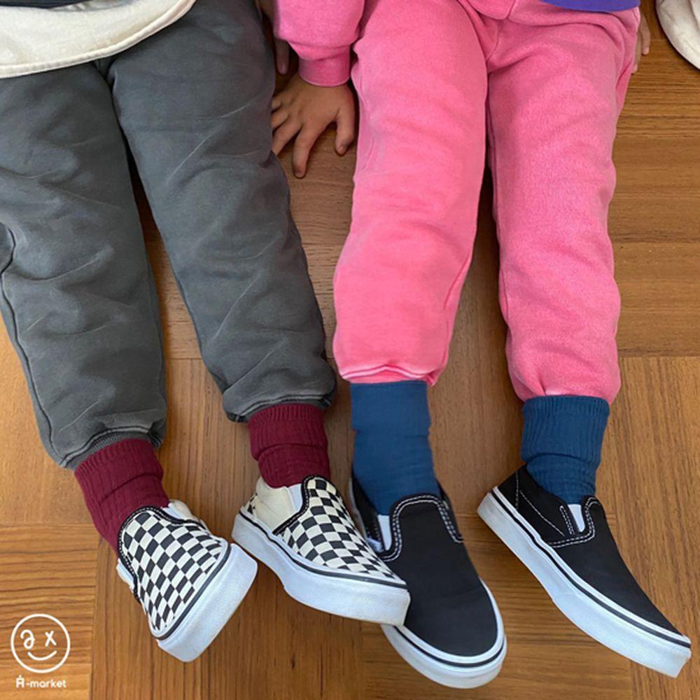 A-MARKET - Korean Children Fashion - #Kfashion4kids - Color Short Socks [set of 4 - 2