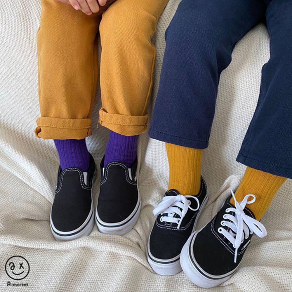 A-MARKET - Korean Children Fashion - #Kfashion4kids - Color Short Socks [set of 4 - 3