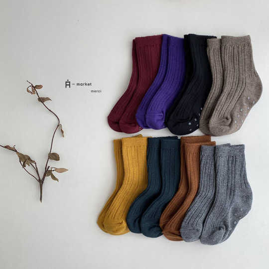 A-MARKET - BRAND - Korean Children Fashion - #Kfashion4kids - Color Short Socks [set of 4