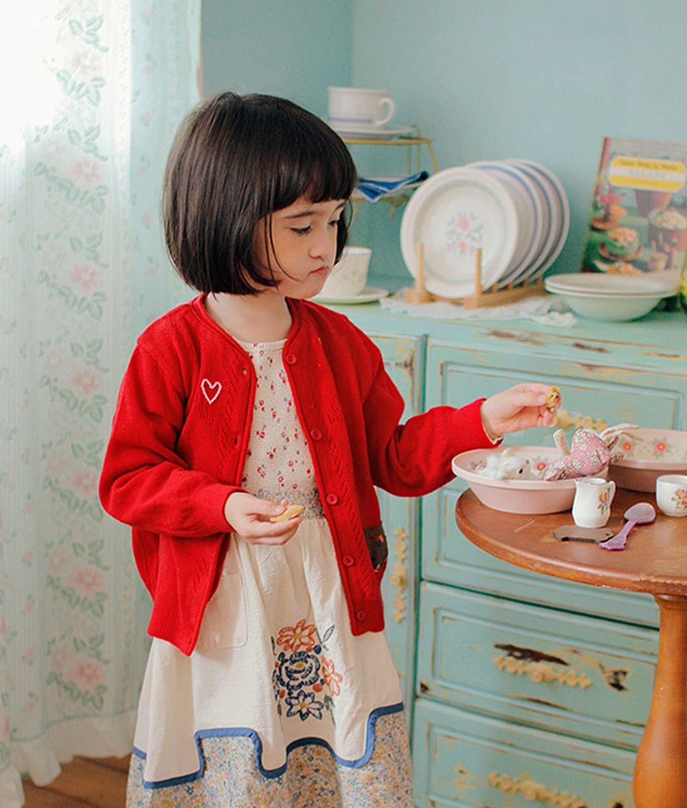 AMBER - BRAND - Korean Children Fashion - #Kfashion4kids - Mongsu Cardigan