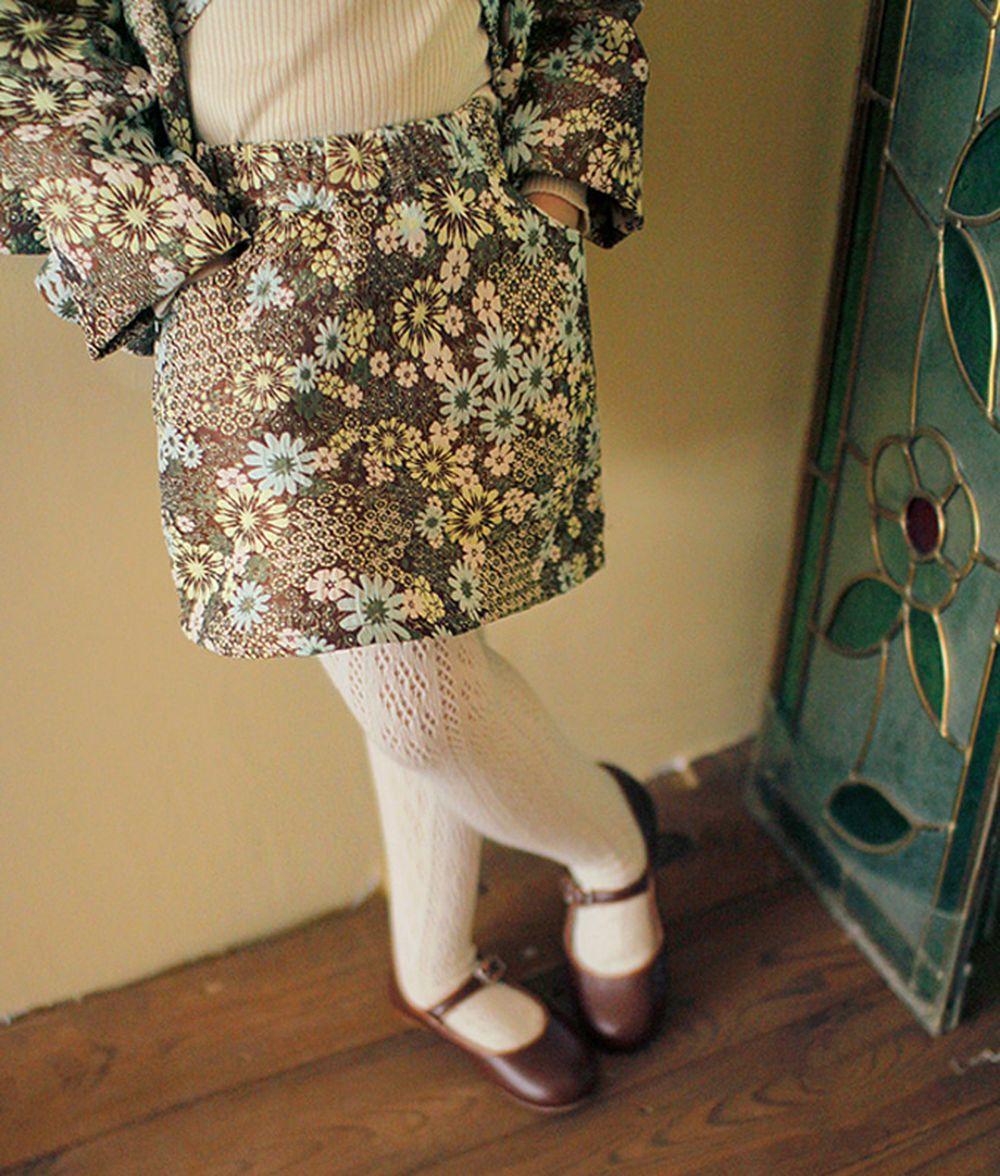 AMBER - BRAND - Korean Children Fashion - #Kfashion4kids - Miel Jacquard Skirt