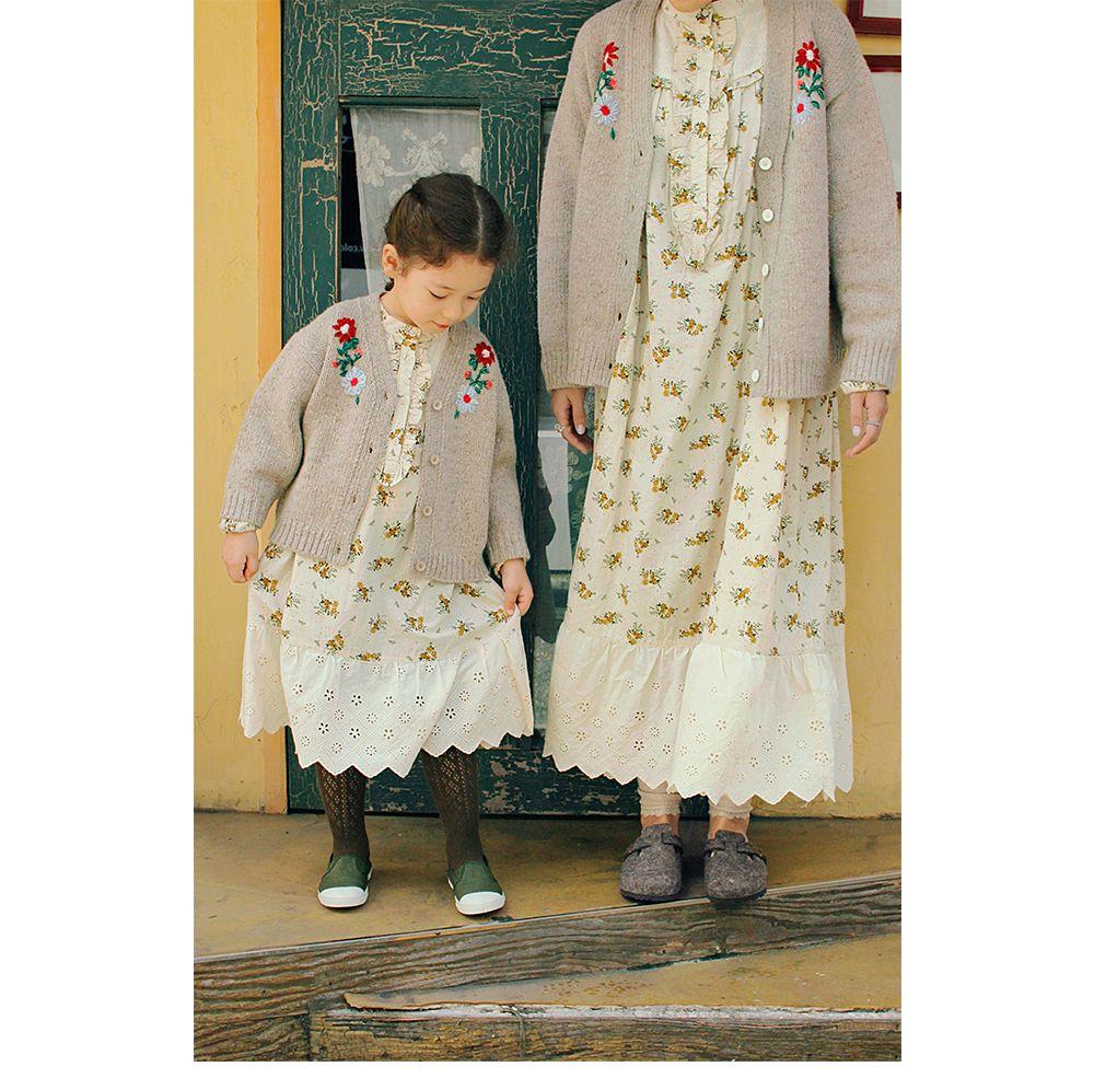AMBER - Korean Children Fashion - #Kfashion4kids - Sage Cardigan