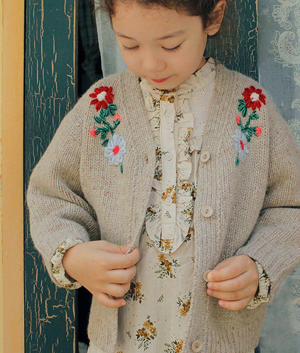 AMBER - BRAND - Korean Children Fashion - #Kfashion4kids - Sage Cardigan