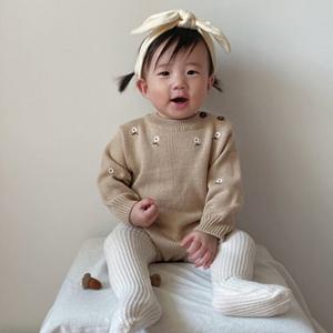 ANNE SHIRLEY - BRAND - Korean Children Fashion - #Kfashion4kids - Farmer Knit Bodysuit
