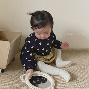 ANNE SHIRLEY - BRAND - Korean Children Fashion - #Kfashion4kids - Heart Half Bodysuit