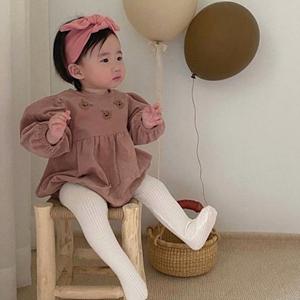 ANNE SHIRLEY - BRAND - Korean Children Fashion - #Kfashion4kids - Bear Embroidery Bodysuit