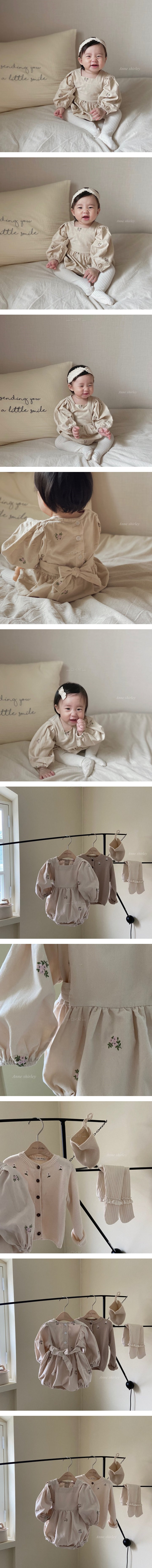 ANNE SHIRLEY - Korean Children Fashion - #Kfashion4kids - Chloe Embroidery Bodysuit