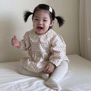 ANNE SHIRLEY - BRAND - Korean Children Fashion - #Kfashion4kids - Heart Collar Bodysuit