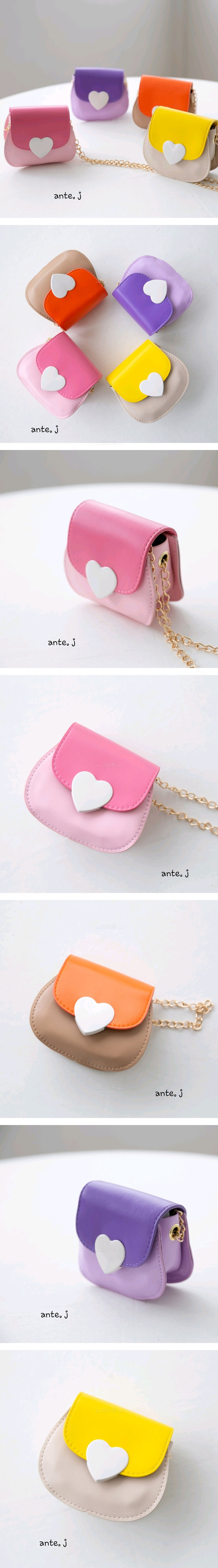 ANTE J - Korean Children Fashion - #Kfashion4kids - Colored Heart Bag