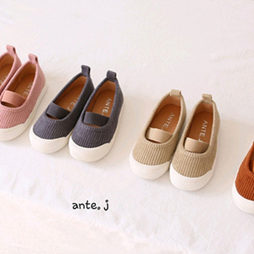 ANTE J - BRAND - Korean Children Fashion - #Kfashion4kids - Corduroy Roro Slip-on