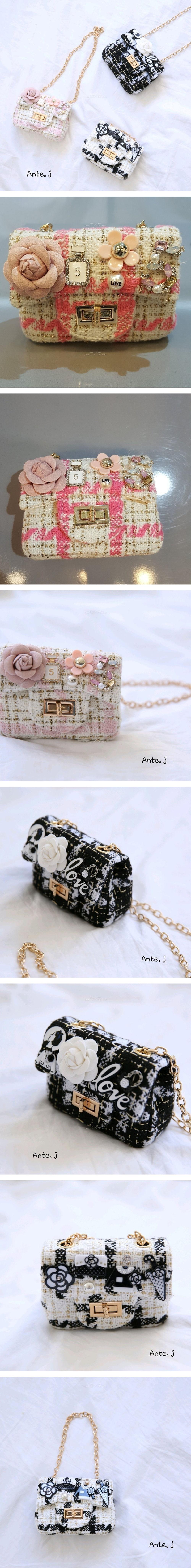 ANTE J - Korean Children Fashion - #Kfashion4kids - Gold String Tweed Bag