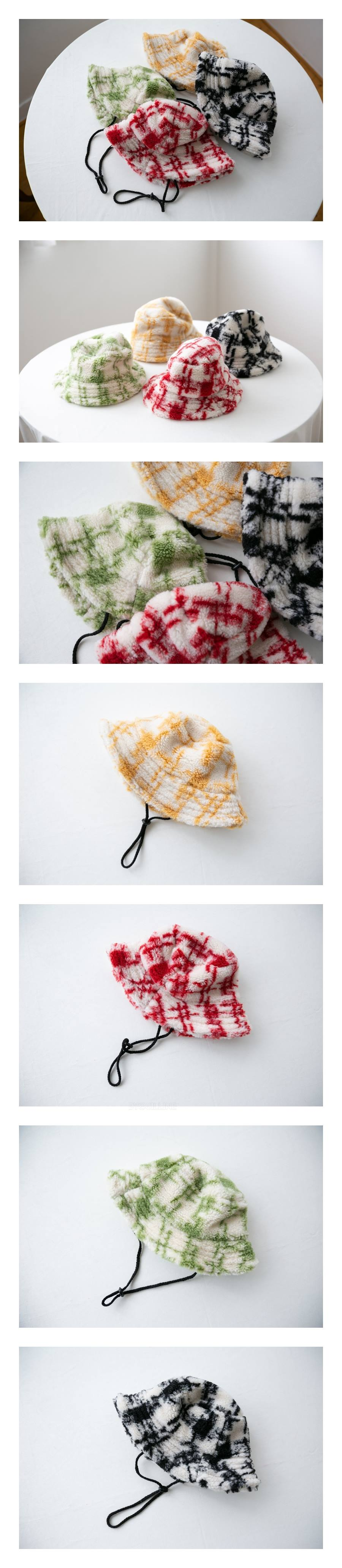 ANTE J - Korean Children Fashion - #Kfashion4kids - Check Bucket Hat