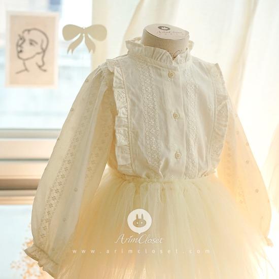 ARIM CLOSET - BRAND - Korean Children Fashion - #Kfashion4kids - Cream Lovely Baby Blouse
