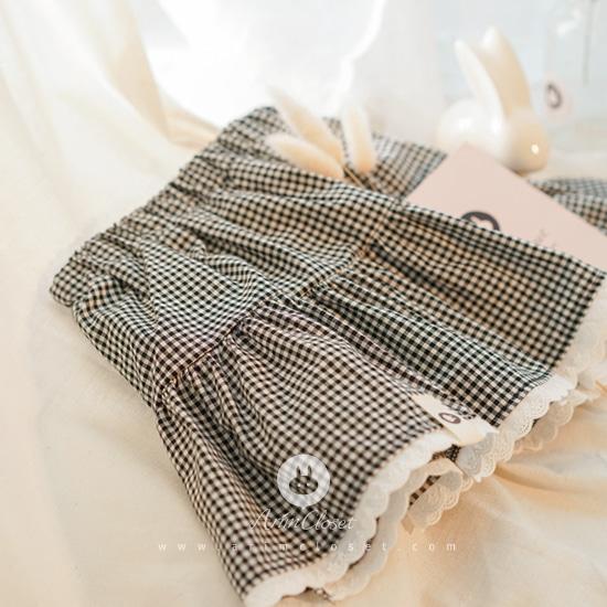 ARIM CLOSET - BRAND - Korean Children Fashion - #Kfashion4kids - Check Mini Bloomer Skirt