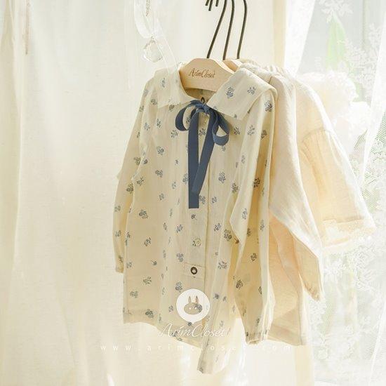 ARIM CLOSET - BRAND - Korean Children Fashion - #Kfashion4kids - Vintage Sailor Ribbon Blouse Cardigan