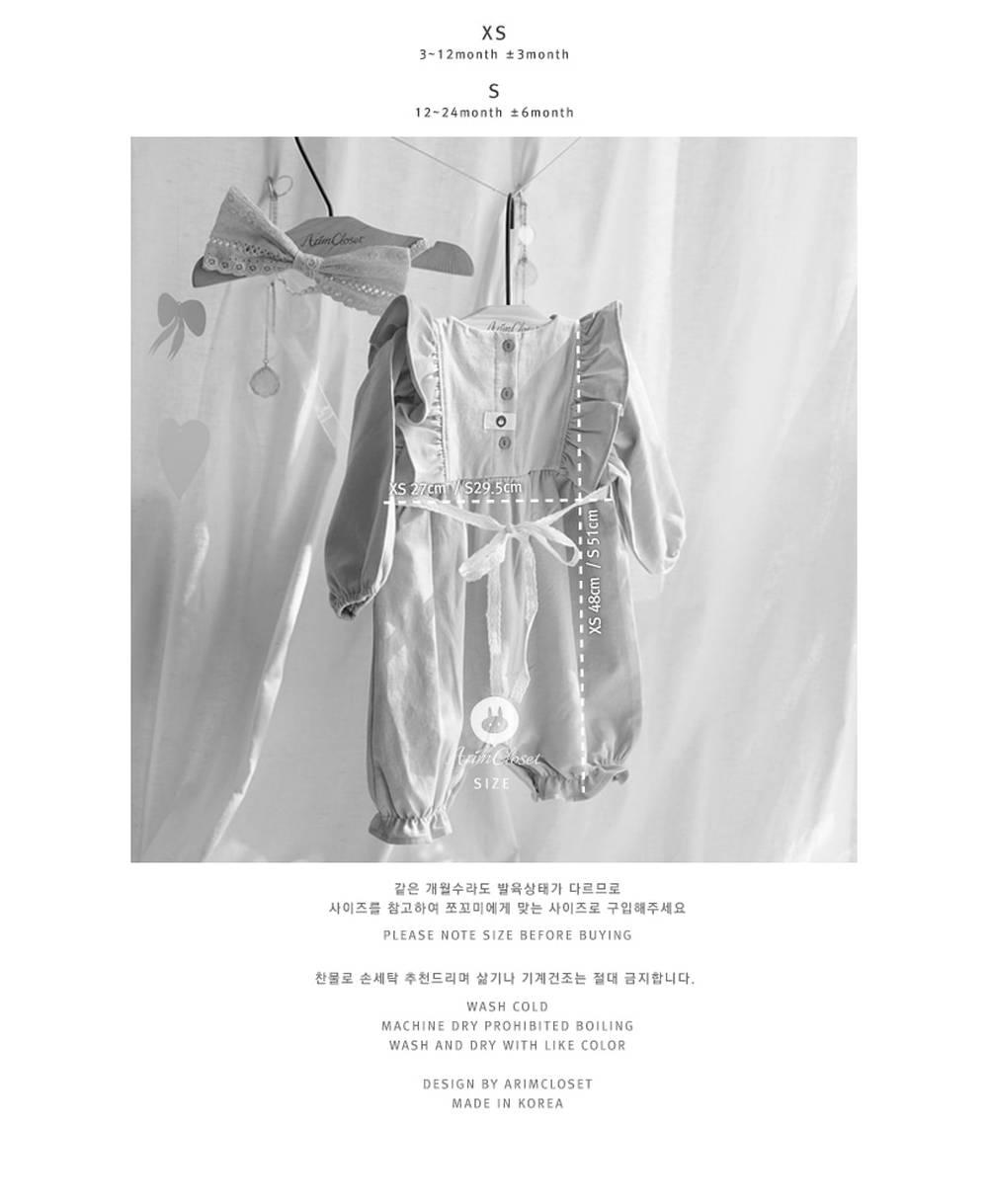 ARIM CLOSET - Korean Children Fashion - #Kfashion4kids - Lace Baby Bodysuit - 3