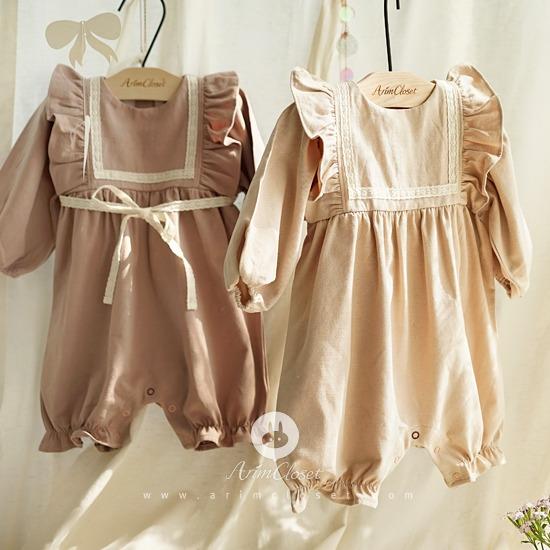 ARIM CLOSET - BRAND - Korean Children Fashion - #Kfashion4kids - Lace Baby Bodysuit