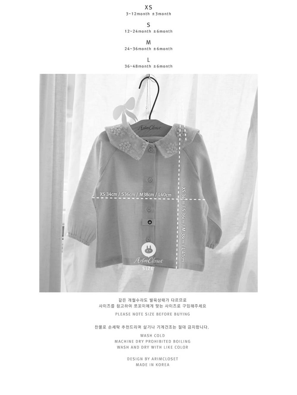 ARIM CLOSET - Korean Children Fashion - #Kfashion4kids - Flower Lace Sailor Blouse - 3