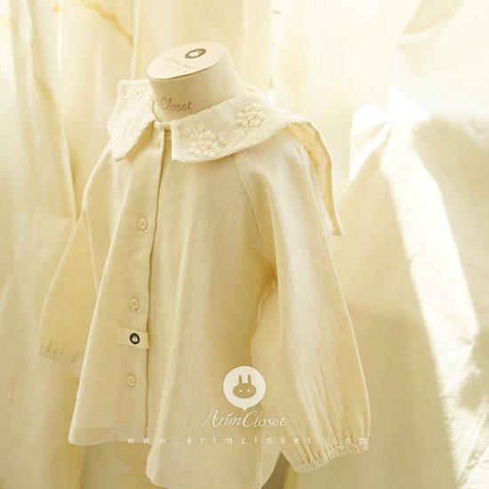 ARIM CLOSET - BRAND - Korean Children Fashion - #Kfashion4kids - Flower Lace Sailor Blouse