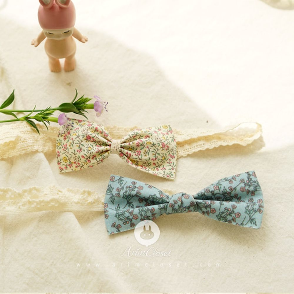 ARIM CLOSET - BRAND - Korean Children Fashion - #Kfashion4kids - Vintage Blue Ribbon Hairband