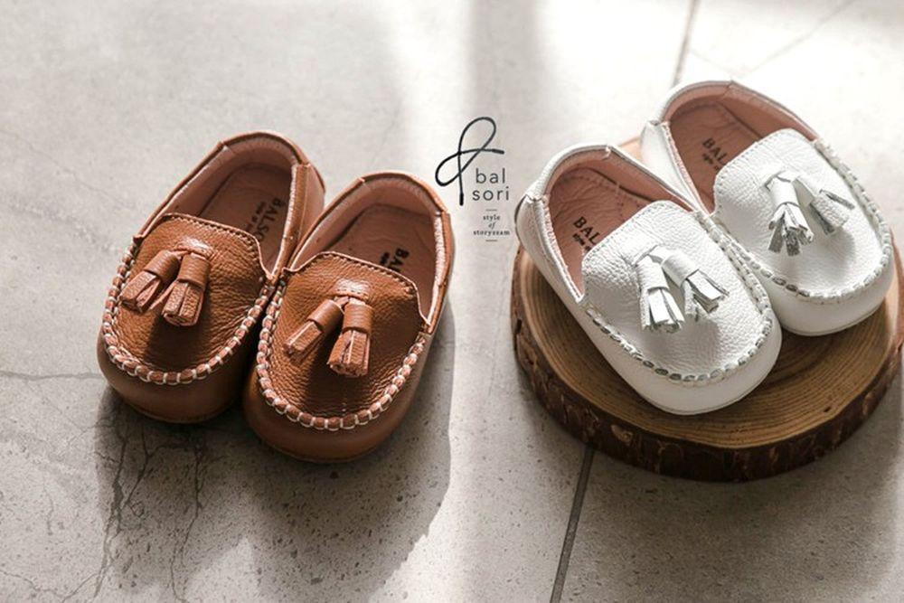 BABYZZAM - BRAND - Korean Children Fashion - #Kfashion4kids - Leather Tessel Loafer
