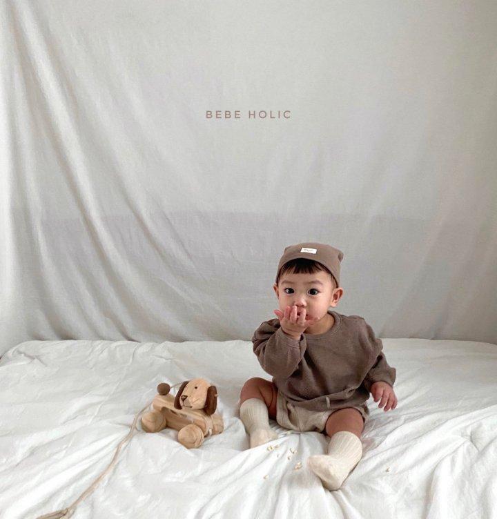 BEBE HOLIC - Korean Children Fashion - #Kfashion4kids - Waffle Top Bottom Set - 4