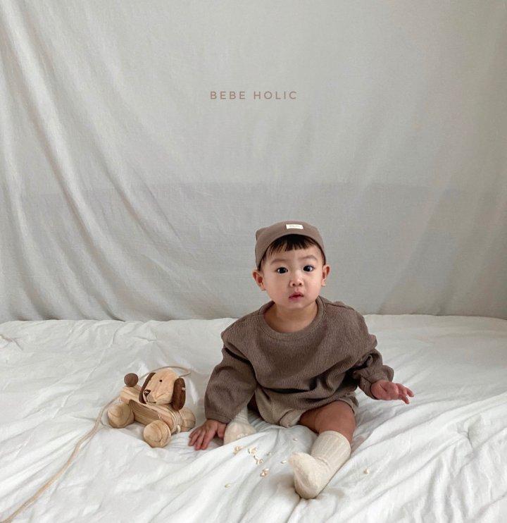 BEBE HOLIC - Korean Children Fashion - #Kfashion4kids - Waffle Top Bottom Set - 6