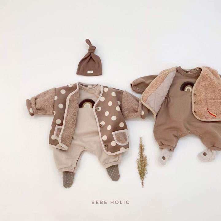 BEBE HOLIC - Korean Children Fashion - #Kfashion4kids - Rainbow Buckle Bodysuit - 9