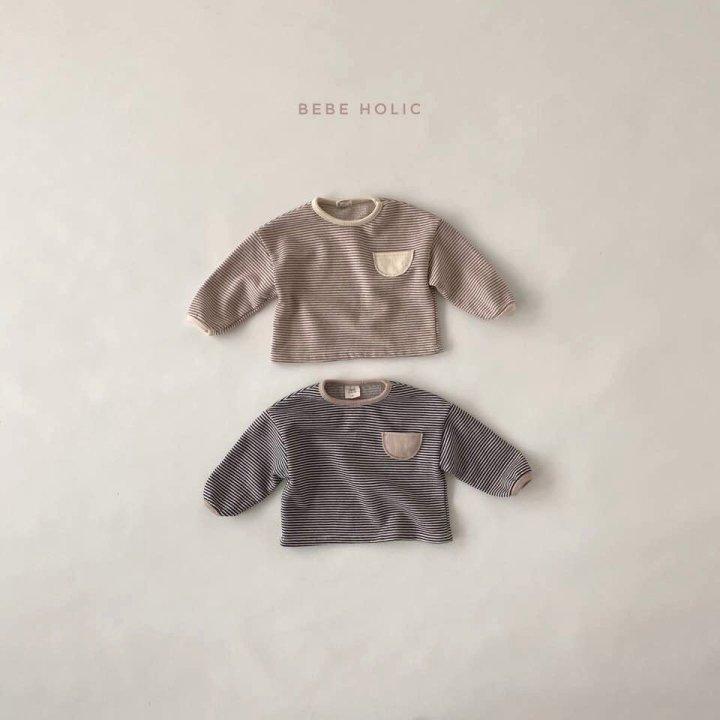 BEBE HOLIC - Korean Children Fashion - #Kfashion4kids - Stripe Pockect Tee - 2