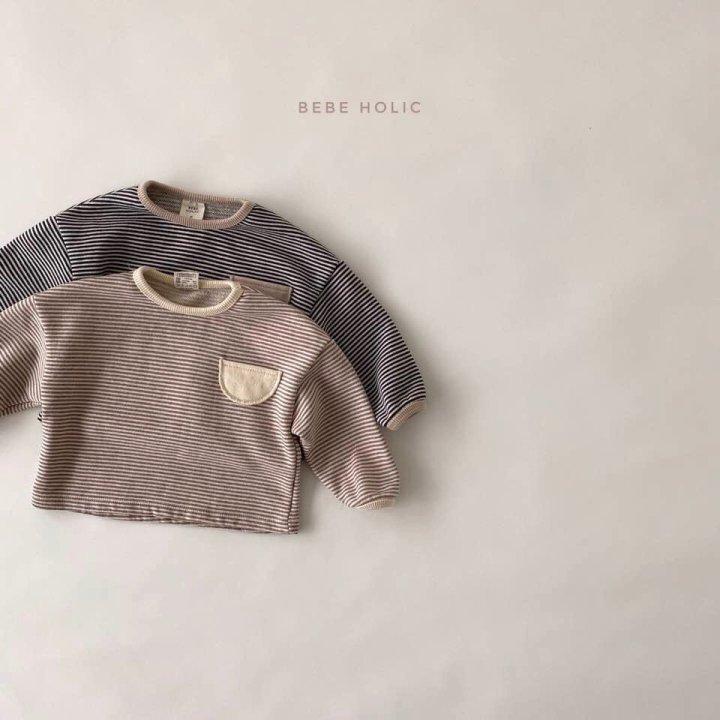 BEBE HOLIC - Korean Children Fashion - #Kfashion4kids - Stripe Pockect Tee - 3