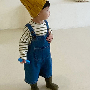 BEBE NINE - BRAND - Korean Children Fashion - #Kfashion4kids - Pocket Suspender Pants