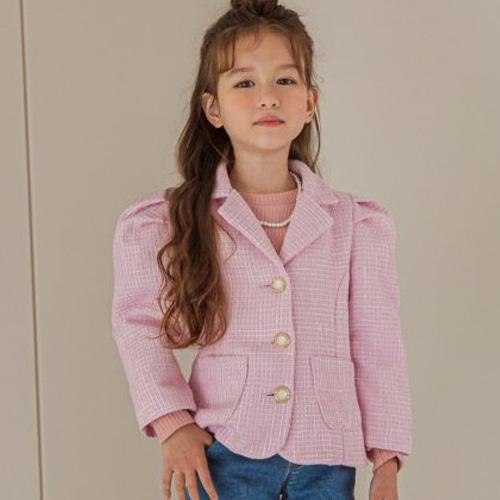 BERRY BERRY - BRAND - Korean Children Fashion - #Kfashion4kids - Tweed Jacket