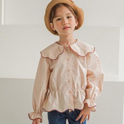 BERRY BERRY - BRAND - Korean Children Fashion - #Kfashion4kids - Scallop Blouse