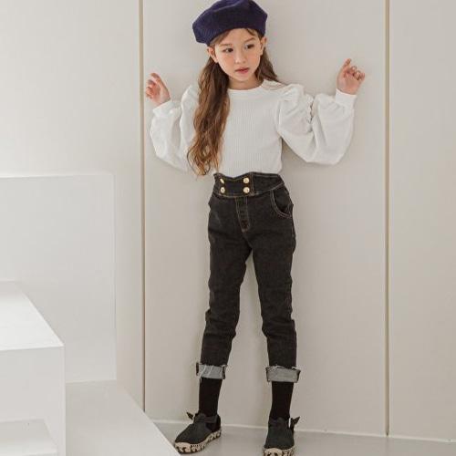 BERRY BERRY - BRAND - Korean Children Fashion - #Kfashion4kids - Button Skinny Pants