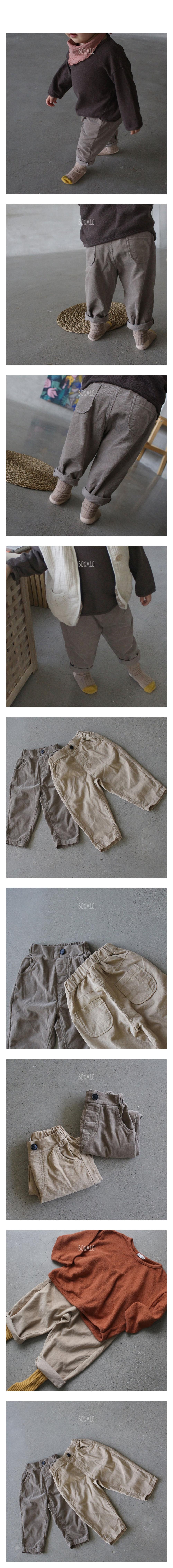 BONALOI - Korean Children Fashion - #Kfashion4kids - 21 Corduory Pants