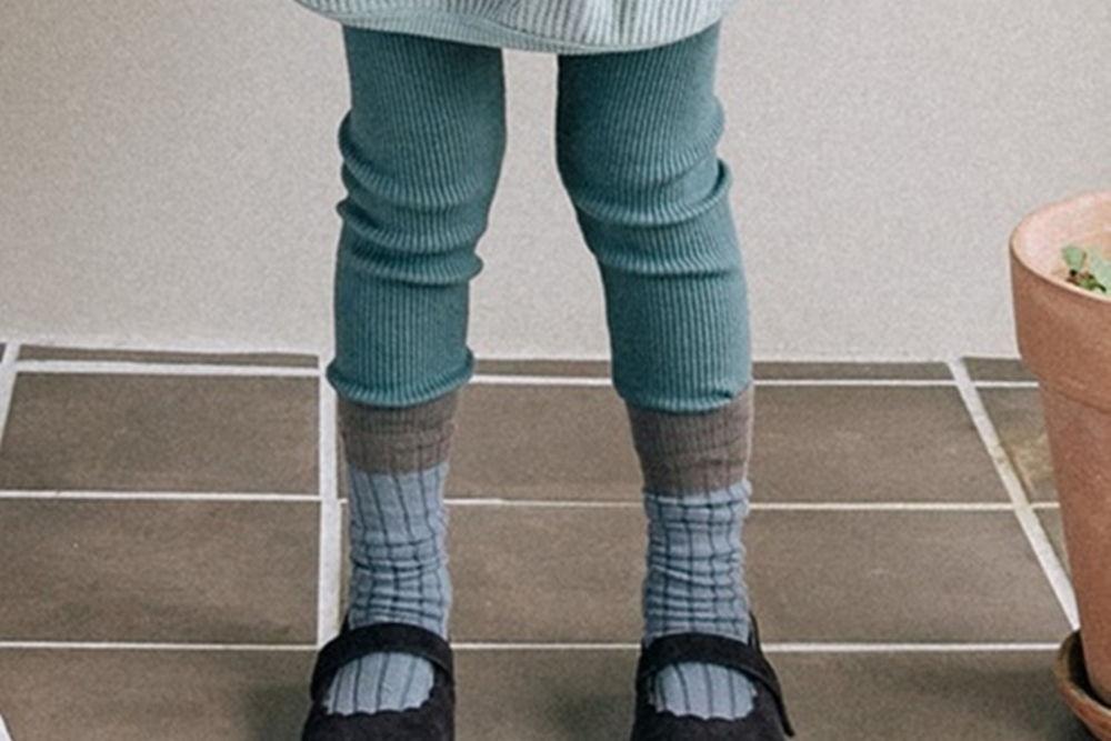 BONALOI - BRAND - Korean Children Fashion - #Kfashion4kids - Rib Dekki Leggings