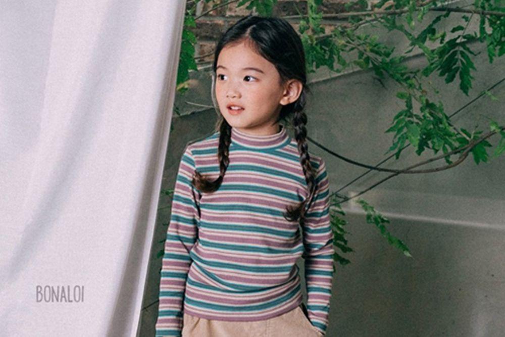 BONALOI - BRAND - Korean Children Fashion - #Kfashion4kids - Multi Stripe Tee