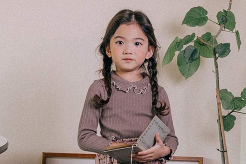 BONALOI - BRAND - Korean Children Fashion - #Kfashion4kids - Wave Collar Tee